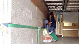 松元サービスの美術品輸送 絵画・マンガの原画のトラック輸送 4tエアサス パワーゲート車
