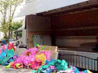 松元サービスの美術品輸送 造形美術品のトラック輸送 4tエアサス ウイング車