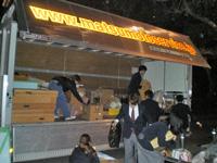 松元サービスの楽器輸送 宵積み 4tエアサス パワーゲート ウイング車
